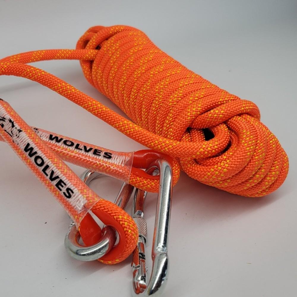 ISO9001인증 투버클형 WOLVES 10MM굵기 10미터 초강력로프 [오렌지]