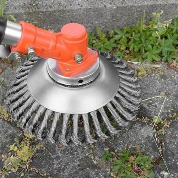 잔디제거 먼지제거 잡초제거 초강력 스틸와이어 8인치 잔디브러쉬