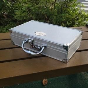 30CM 초경량 보안 넘버형 MINI 007 알루미늄 SBL케이스 공구가방 (실버색상)